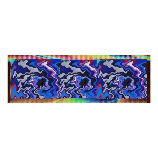 SKY Cosmos Wonder Panorama Waves  Decorative Art Posters