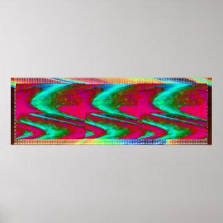 SKY Cosmos Wonder Panorama Waves  Decorative Art Poster