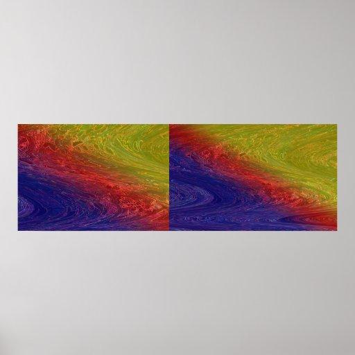 SKY Cosmos Wonder Rainbow Waves  Decorative Art Print