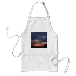 Sky Dark Land Night Standard Apron