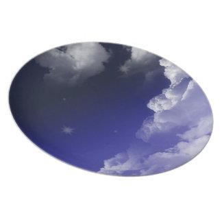 sky design dinner plate