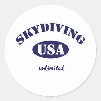 Sky Dive USA unlimited Classic Round Sticker