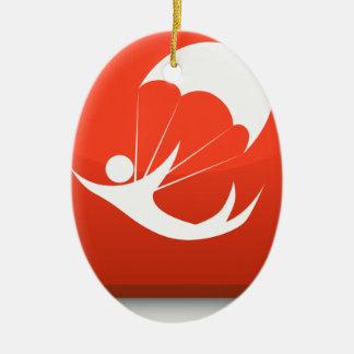 Sky Diver Icon Ceramic Ornament