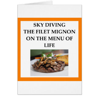 sky diving card