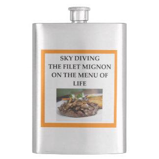 sky diving hip flask