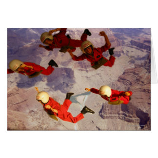 Sky Diving over the Grand Canyon Action Man Card