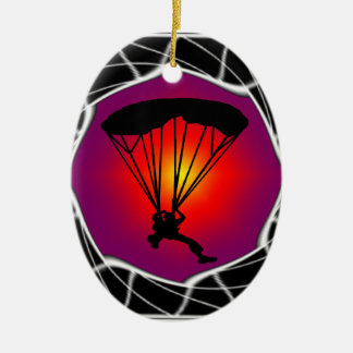SKY DIVING READY CERAMIC ORNAMENT
