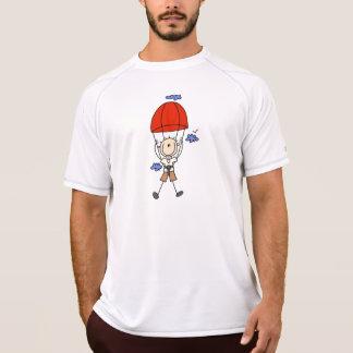 Sky Diving Stick Figure T-Shirt