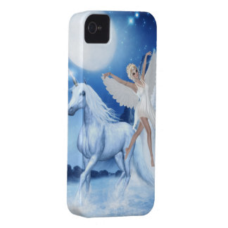 Sky Faerie Asparas and Unicorn iPhone 4 Case-Mate Cases
