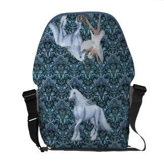 Sky Faerie Asparas and Unicorn Messenger Bags