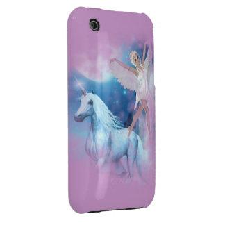 Sky Faerie Asparas and Unicorn Vignette iPhone 3 Cases