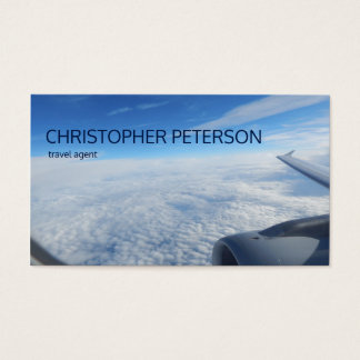 Sky Flight Travel Agent Business Card