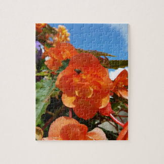 sky, flowers and bee jigsaw puzzle