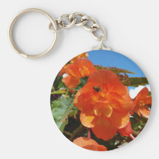 sky, flowers and bee keychain