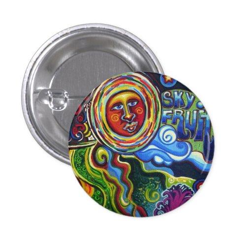 Sky Fruit Art Pin Pinback Button