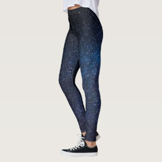 Sky Full of Stars Blue Black Leggins Leggings