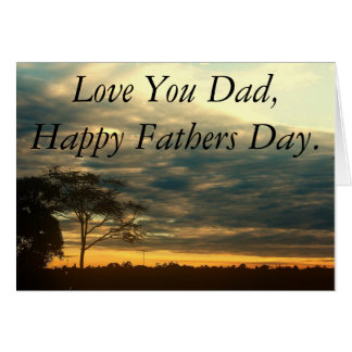 Sky happy Fathers Day Card