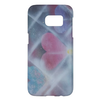 Sky Hearts Spray Paint phone case