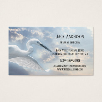 Sky Heron Funeral Director Business Card