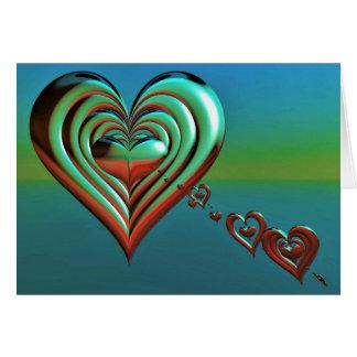 Sky High Hearts Card