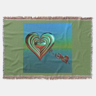 Sky High Hearts Throw Blanket