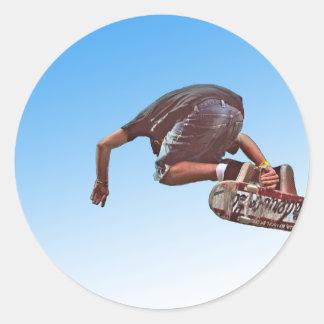 Sky High Round Sticker