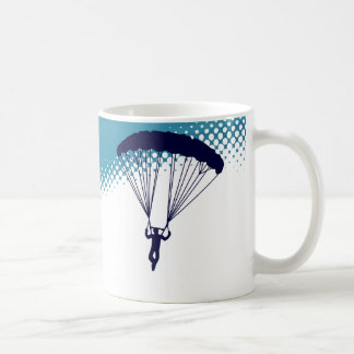 sky high skydiving coffee mug