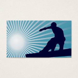 sky high snowboarding business card