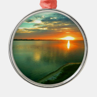 Sky High Sunset Silver-Colored Round Ornament