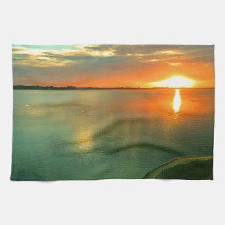 Sky High Sunset Towels