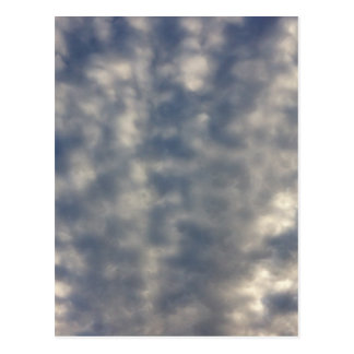 Sky images with ruffled soft clouds postcard