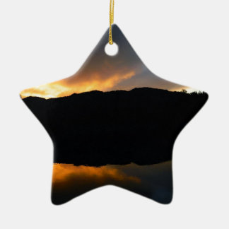 sky in the mirror ceramic star ornament