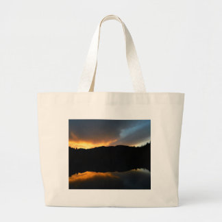 sky in the mirror large tote bag