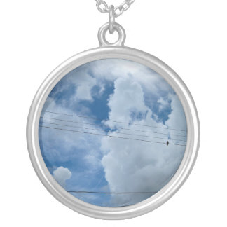 Sky is the limit silver plated necklace