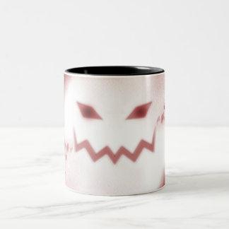 SKY JACK Spooky Jack O Lantern Face Wht Red Coffee Mug