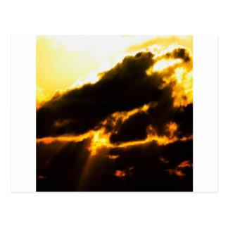 Sky Lava Clouds Postcard