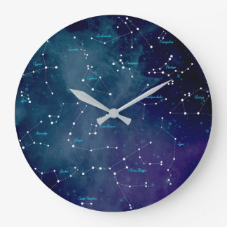 Sky Map Constellations Astronomy Large Clock