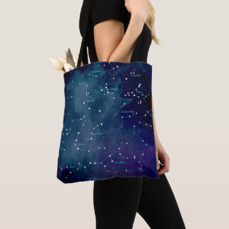 Sky Map Constellations Astronomy Tote Bag