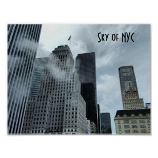 Sky of New York City Poster
