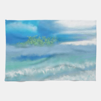 Sky Over Beach Art Kitchen Towel