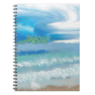 Sky Over Beach Art Notebook