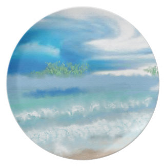 Sky Over Beach Art Plates
