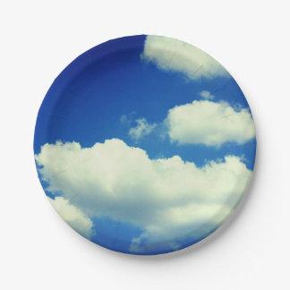 Sky paper plate