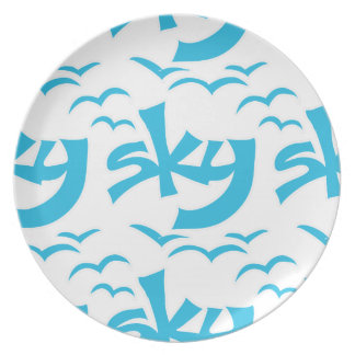 sky party plates