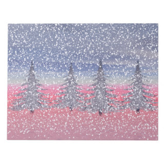 sky pink and snow notepad