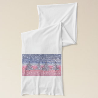 sky pink and snow scarf