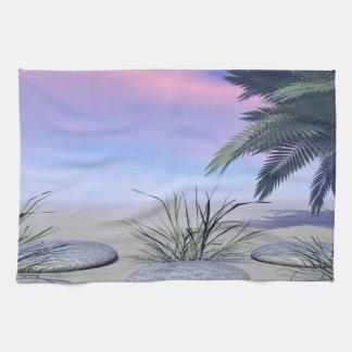 sky pink and zen kitchen towel