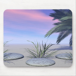 sky pink and zen mouse pad