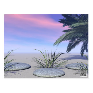 sky pink and zen postcard