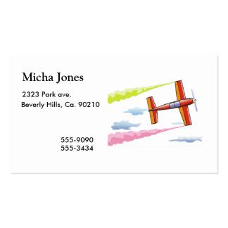 Sky Plane Flying Business Card Template